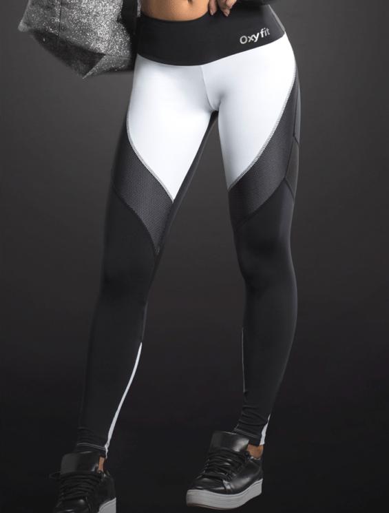 Oxyfit leggings honeycomb 64054 black-bestfitbybrazil
