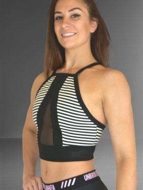 LABELLAMAFIA Bra Top MBL10787 CROPPED RIVE GAUCHE STRIPES
