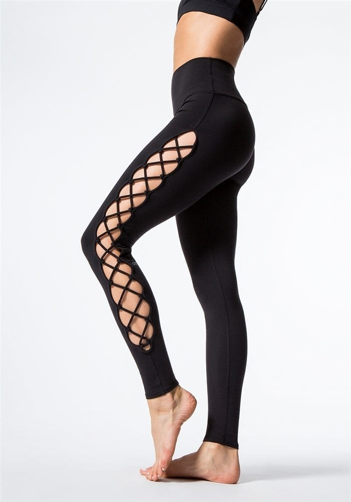d78c118ecefcf5 ALO Yoga Interlace Leggings Sexy Yoga Pants - black