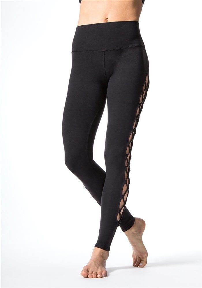 a811c08d15 ALO Yoga Interlace Leggings Sexy Yoga Pants - black