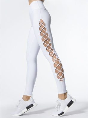 ALO Yoga Interlace Leggings Sexy Yoga Pants – white