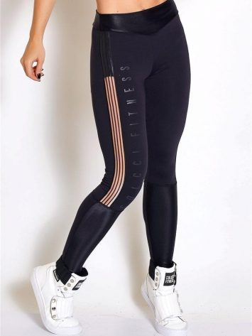 COLCCI FITNESS Leggings 25700202 Sexy Mesh Design Black