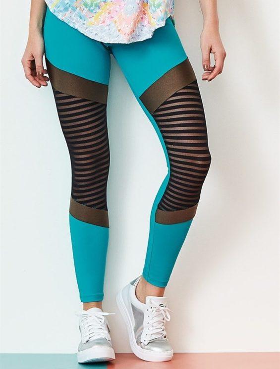 CAJUBRASIL Leggings 9044 Glam Sexy Leggings Brazilian Teal