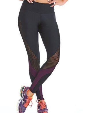 CAJUBRASIL Leggings 9050 Texture Sexy Leggings Brazilian BK