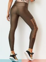 CAJUBRASIL Leggings 9054 Effect Sexy Leggings Brazilian Coffee