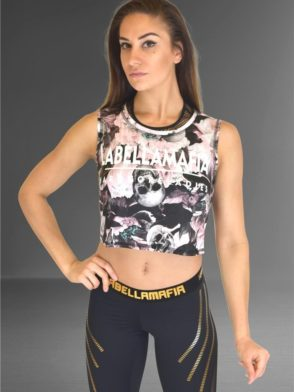 LABELLAMAFIA Crop Top FBL11811 Power Columbia Skull Top