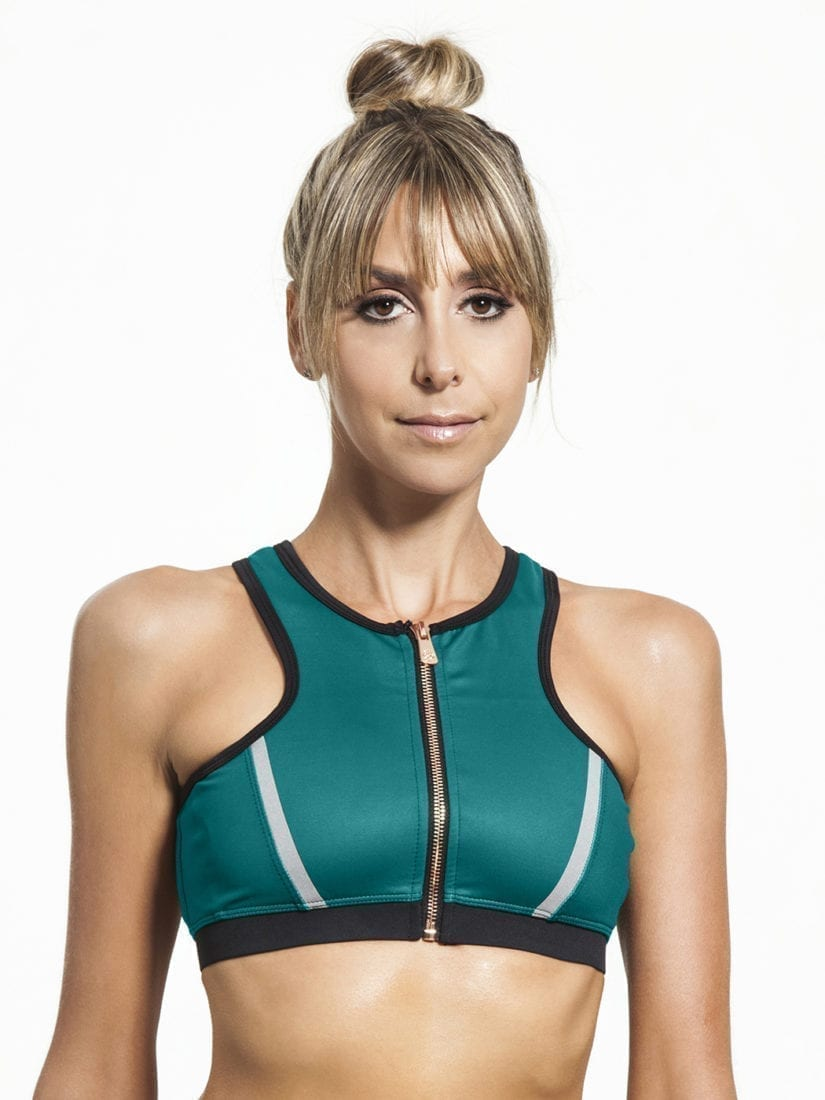 L'URV Crop Top I Am a Dreamer Green Emerald Sexy Workout Top