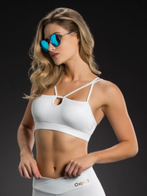 OXYFIT Bra Top 27086 Looped – Sexy Sports Bras- White