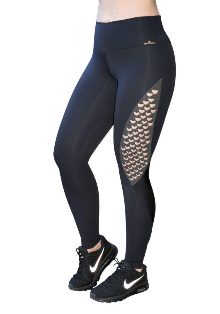 CAJUBRASIL Leggings 9021 Emana Black Sexy Leggings Brazilian