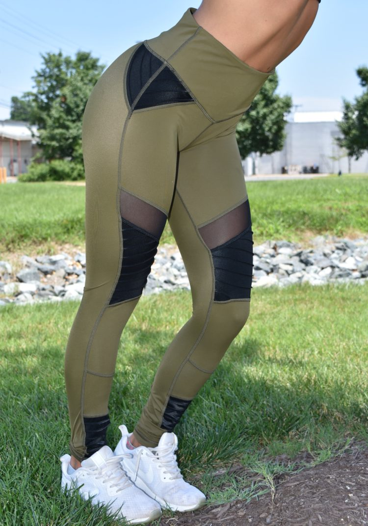 L'URV Leggings Fever Pitch Moto Leggings Black Sexy Workout Tights