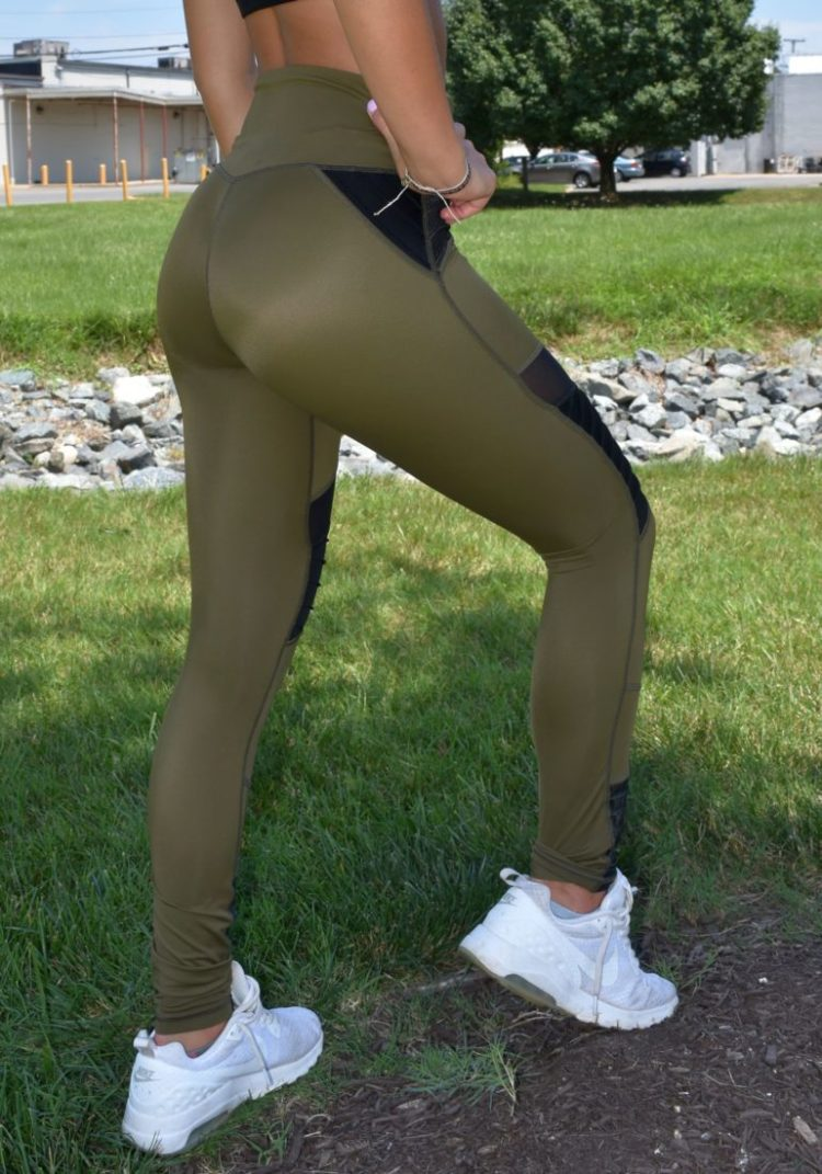 L'URV Leggings Fever Pitch Moto Leggings Black Sexy Workout Tights