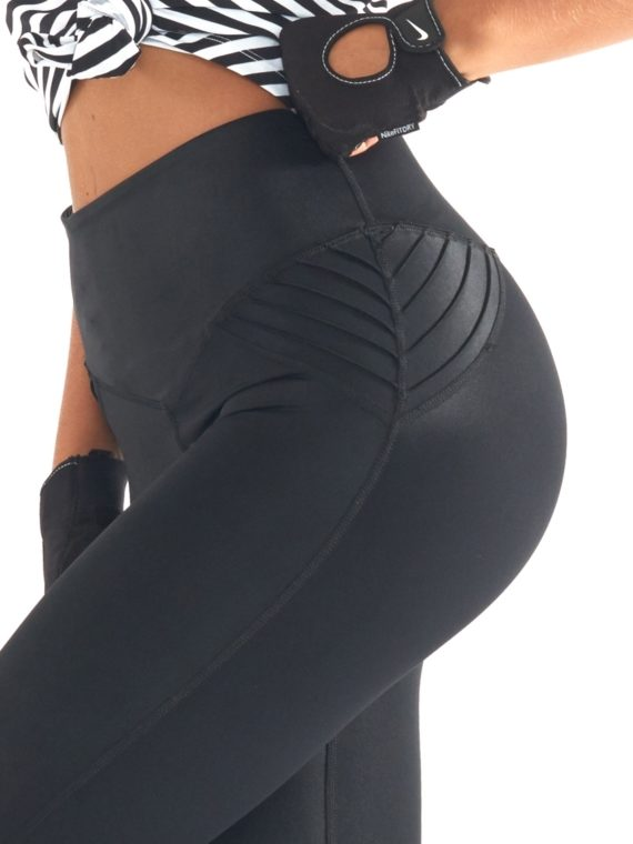 L'URV Leggings LEATHER LUST MOTO LEGGING Black Sexy Workout Tights