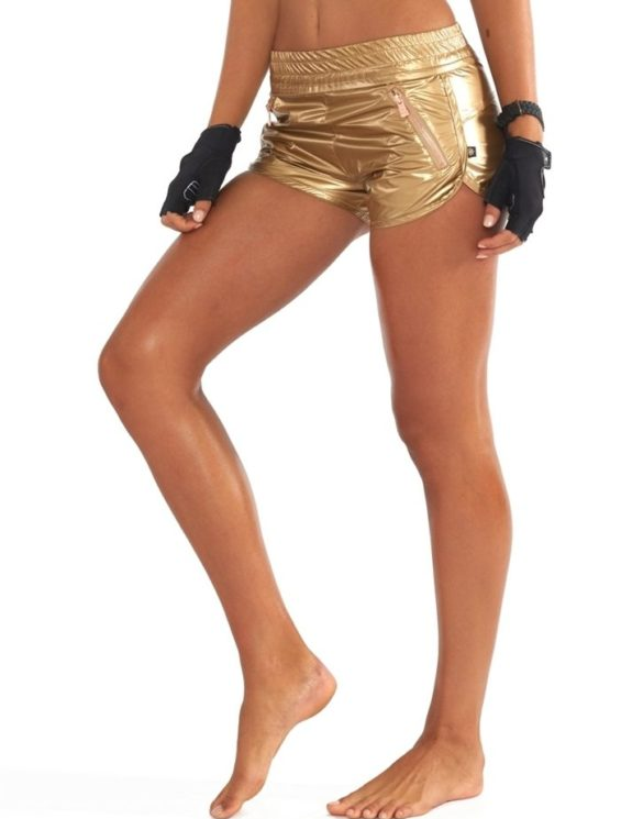 L'URV Shorts Going For Gold Shorts Sexy Workout Shorts Lemon Gold