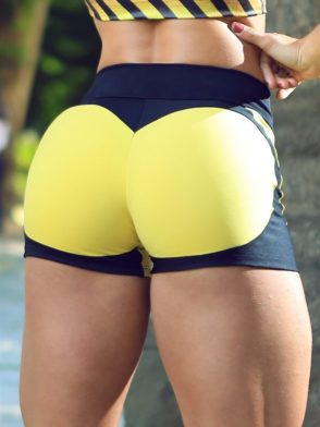 DYNAMITE Shorts SH2094-1 Apple Booty BK Yellow-Sexy Shorts
