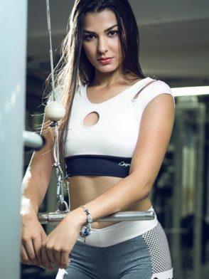DYNAMITE Sports Bra Top T2015 Innocent Sinner WH-Sexy Tops