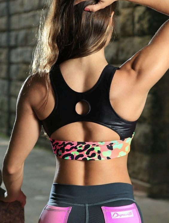 DYNAMITE Sports Bra Top T2018 Colorful Animal -Sexy Tops