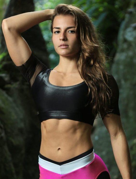 DYNAMITE Sports Bra Top T231 Cirre Tule BK-Sexy Tops