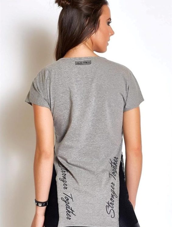 "COLCCI FITNESS T-Shirt 365700124 ""Stronger Together ""Gray"