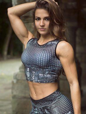 DYNAMITE Cropped Revolution Blouse BL300 -Sexy Tops Workout Tanks