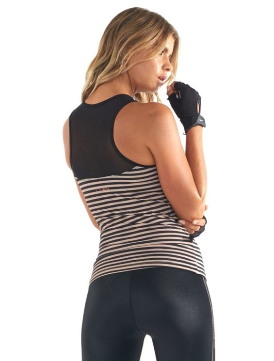 L'URV Nautical and Nice Cami Top Sexy Workout Top Stripes