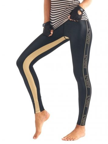 L'URV Leggings ENERGIZE ME Leggings Sexy Workout Tights Black LG