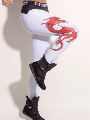 SUPERHOT Leggings CAL959 Sexy Workout Leggings Red Dragon