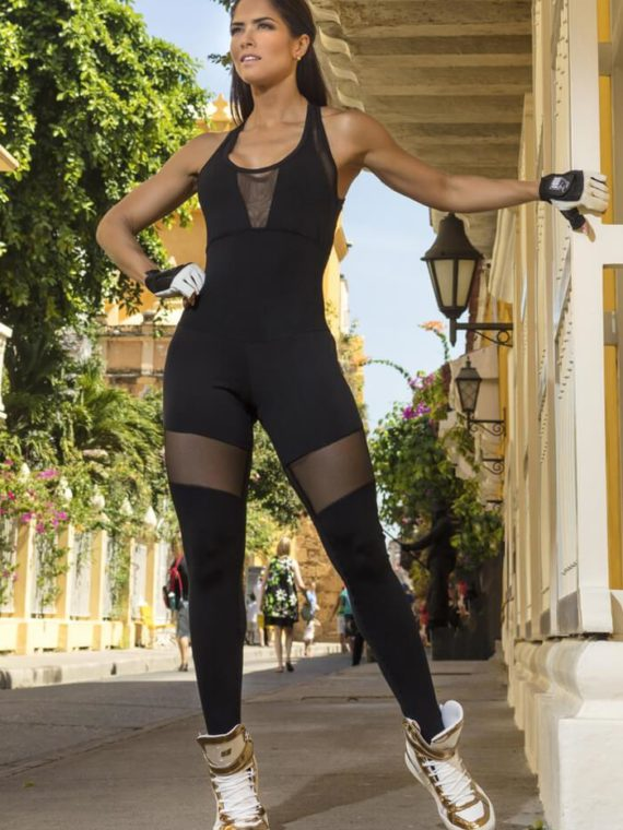 SUPERHOT MAC1001 Sexy Workout Long Jumpsuit Romper One-Piece