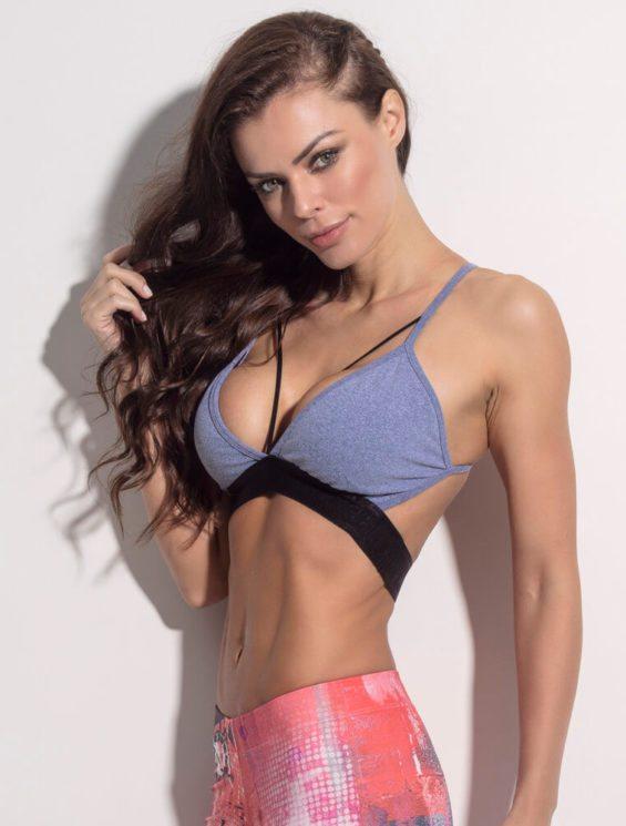 SUPERHOT Bra TOP1142  SEXY Workout Tops Cute YOGA Sport Bra Ring