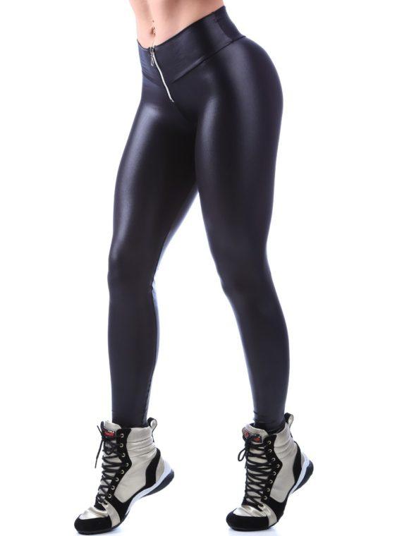 DYNAMITE BRAZIL Leggings L903 Black Zipper Cirre-Sexy Workout Leggings