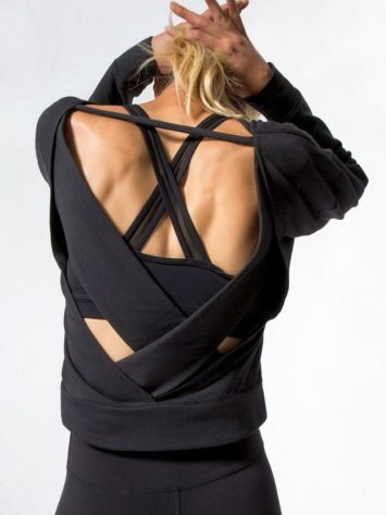 ALO Yoga Long Sleeve Top Uplift – Sexy Yoga Tops BK