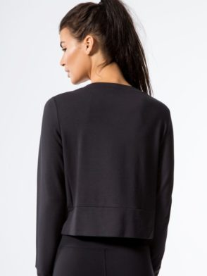 ALO Yoga Long Sleeve Top Ideal - Sexy Yoga Tops BK