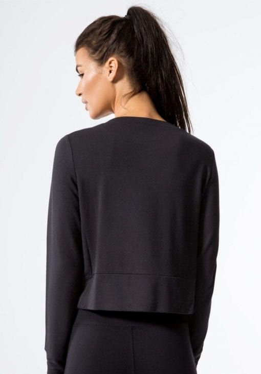 ALO Yoga Long Sleeve Top Ideal - Sexy Yoga Tops BK