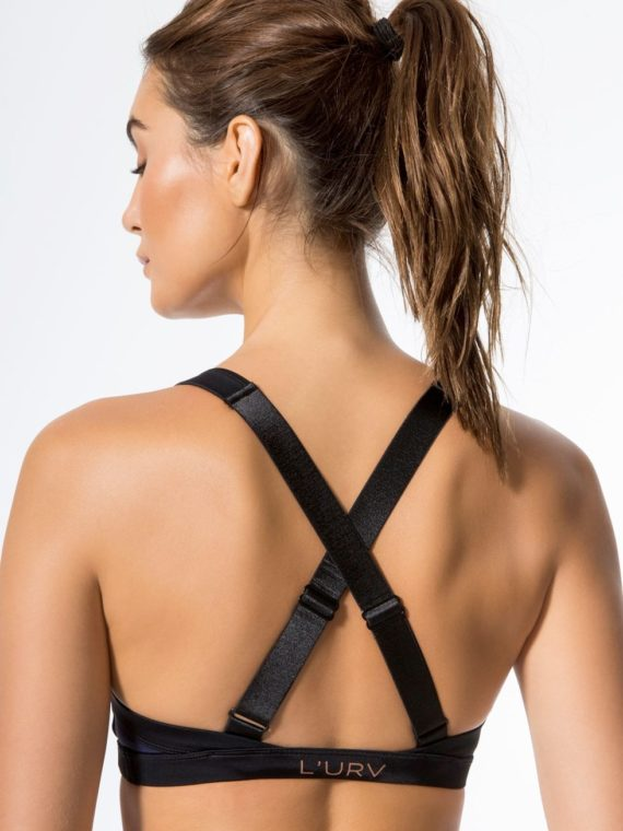 L'URV Sports Bra Twist and Turn Bralette Navy Sexy Workout Top