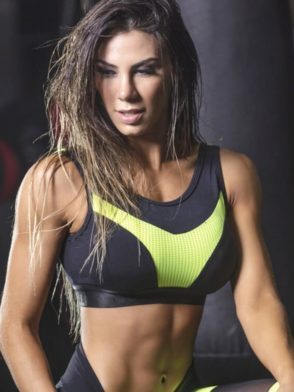 SUPERHOT Sports Bra TOP1350 Forceful Cute Yoga Sport Bra