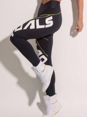 SUPERHOT Leggings CAL981 Sexy Workout Leggings SQUAD GOALS Black