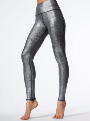 ALO Yoga Airbrush Legging High-Waist Yoga Sexy Leggings Slate Metallic BK