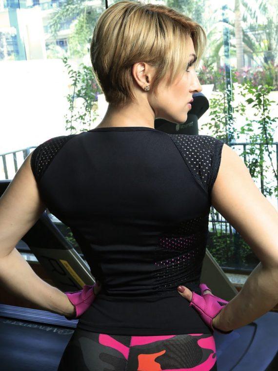 DYNAMITE Brazil Black Zipper Blouse BL2088 -Sexy Zipper Tops