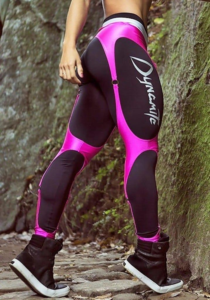 c1abd9bda5 DYNAMITE Brazil Leggings L989 Black Cirre Pink Corset Legging - Sexy ...