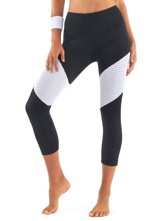 L'URV Leggings Race Ready 3/4 Leggings Sexy Workout Leggings Black WH