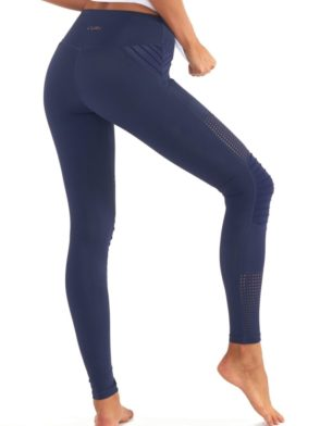 L'URV Leggings Race Ready Moto Leggings Sexy Workout Tights Navy