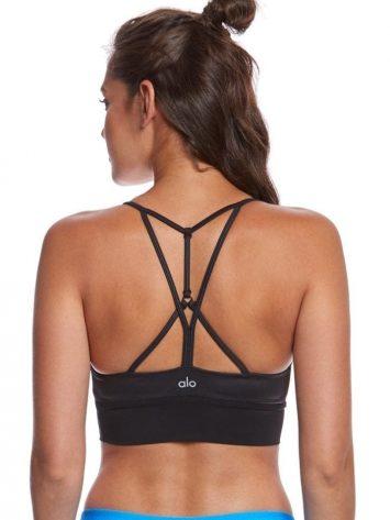 ALO Yoga Bra Lush Bra -Sexy Workout Bra Tops Black