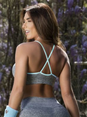 OXYFIT Bra Top Jasmin 27115 Mint- Sexy Workout Bra - Cute Yoga Top