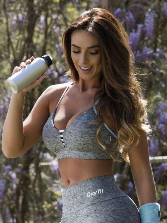 OXYFIT Bra Top Jasmin 27115 Mint- Sexy Workout Bra – Cute Yoga Top