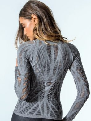 bfa2c708c ... ALO Yoga Wanderer Long Sleeve Top -Sexy Yoga Tops Charcoal Heather