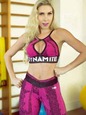 DYNAMITE BRAZIL Sports Bra Top T2001 Pink Drop-Sexy Workout Tops
