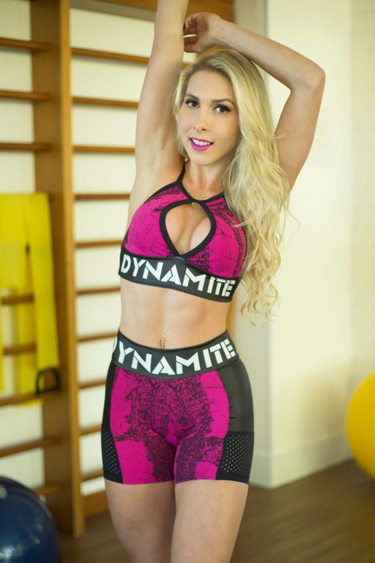 DYNAMITE BRAZIL Sports Bra Top T2001 Pink Drop-Sexy Workout Tops