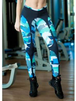 DYNAMITE Brazil Leggings L989 Blue Camo CORSET LEGGINGS