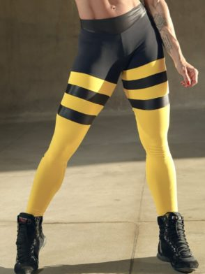 DYNAMITE Brazil Leggings L2093 Yellow Striped Leggings