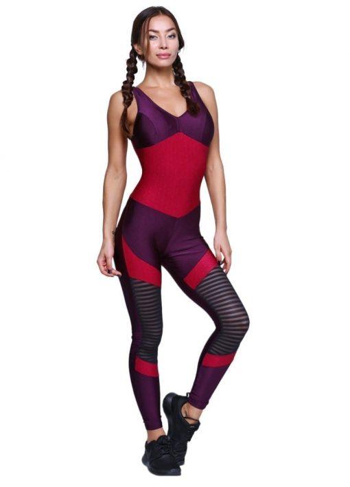 CAJUBRASIL Jumpsuit 9069 Perfect Sexy Workout Romper Deep Burgundy Purple