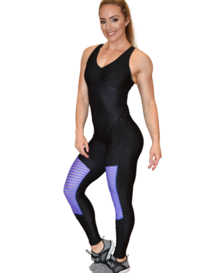 CAJUBRASIL Jumpsuit 9069 Perfect Sexy Workout  Romper Black